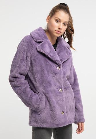 MYMO Between-Seasons Coat in Purple
