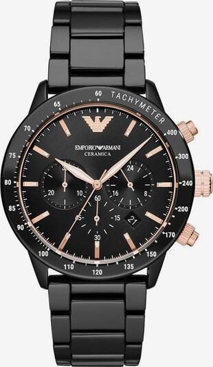 Emporio Armani Uhr in rosé / schwarz, Produktansicht