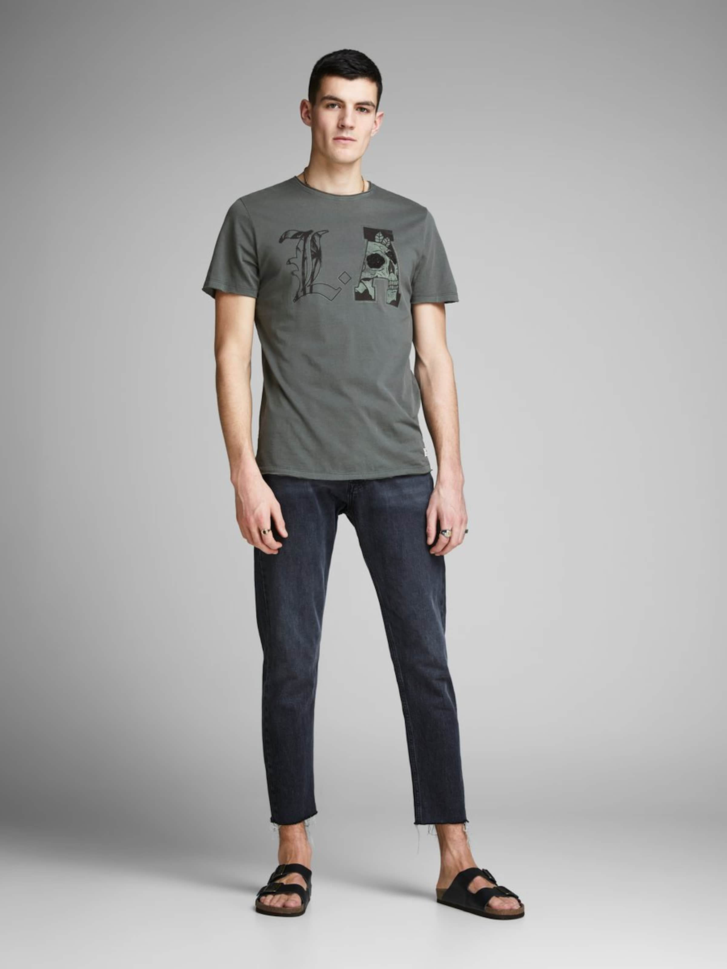 Jackamp; Jones T AnthrazitDunkelgrün In shirt vw80nmN