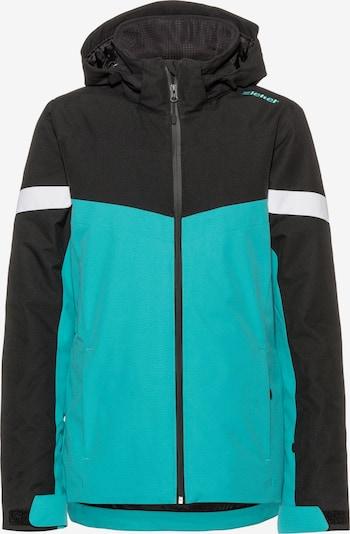 ZIENER Skijacke 'Pegina' in jade / schwarz / weiß, Produktansicht