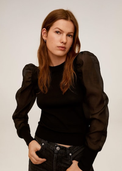 MANGO Pullover 'Elsa' in schwarz, Modelansicht