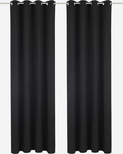 BRUNO BANANI Vorhang 'Lagan' in schwarz, Produktansicht