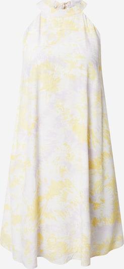 Rochie 'FLAMMATIEDYA' VILA pe galben / mov / alb: Privire frontală