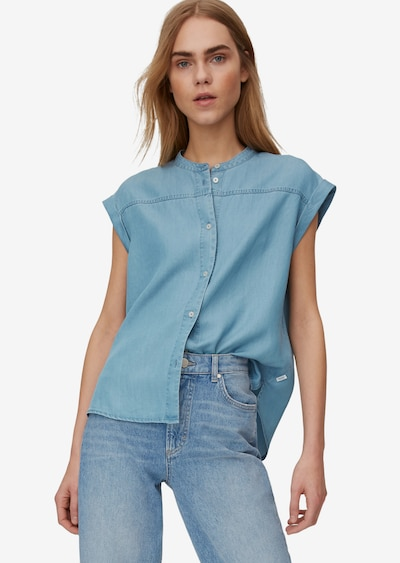 Marc O'Polo DENIM Bluse in blau, Modelansicht