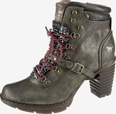 MUSTANG Stiefelette in oliv: Frontalansicht