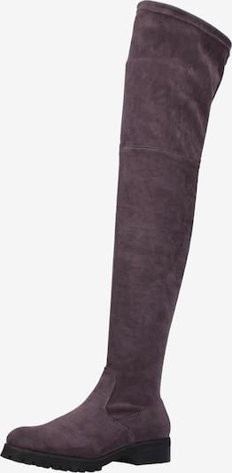 BUFFALO Overknee laarzen in de kleur Grijs: Vooraanzicht
