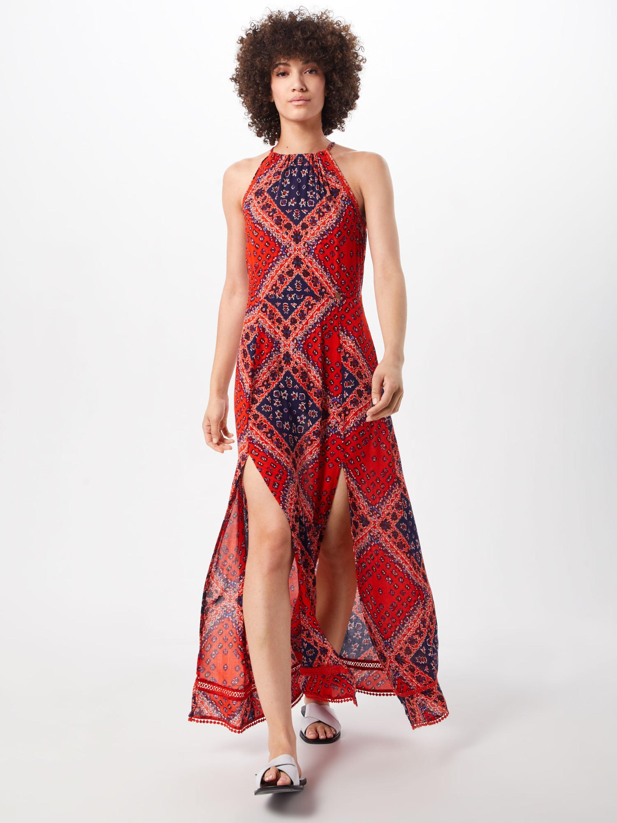 Maxi Superdry Carmin En Robe 'boho Rouge Dress' uwPkZlTOXi