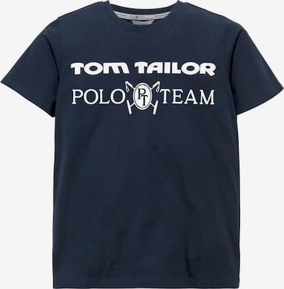 Tom Tailor Polo Team T-Shirt in marine / weiß, Produktansicht