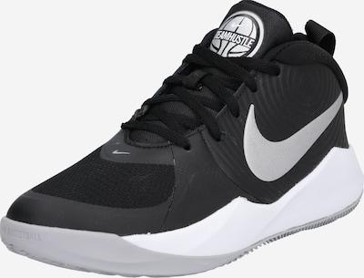 NIKE Chaussure de sport 'Team Hustle D9' en gris argenté / noir / blanc, Vue avec produit