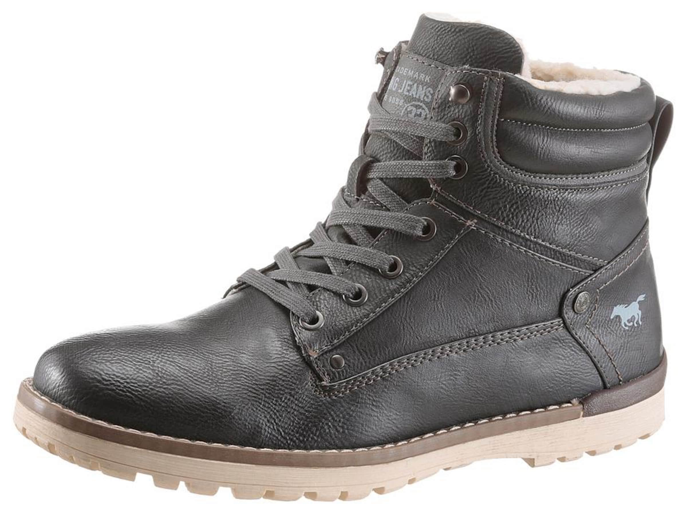 À Mustang Lacets Bottines En Anthracite xBdoCe