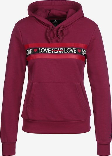 CONVERSE Hoodie 'Love the Progress' in bordeaux, Produktansicht