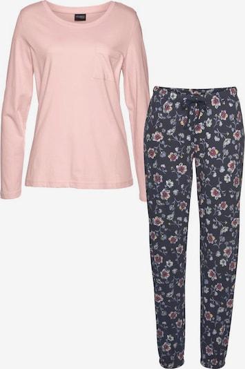 VIVANCE Pyjama (2-tlg.) in blau / rosa, Produktansicht