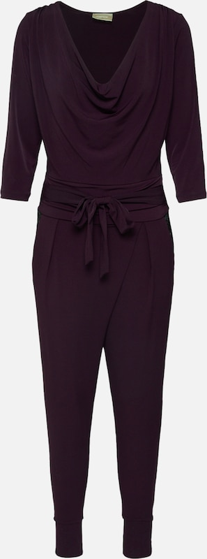 Cartoon Jumpsuit in de kleur Aubergine, Productweergave