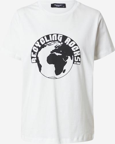 SISTERS POINT Shirt 'Puki' in schwarz / weiß, Produktansicht