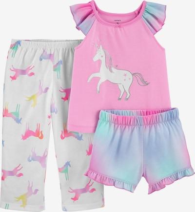 Carter's Schlafanzug Set in hellblau / pink / weiß, Produktansicht