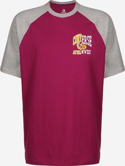 CONVERSE T-Shirt ' Remix Raglan ' in grau / blutrot, Produktansicht