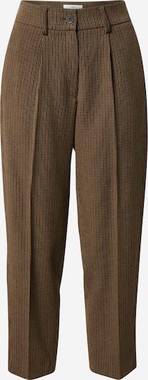 világos bézs / barna / fekete BRAX Élére vasalt nadrágok 'Marcie': Elölnézet