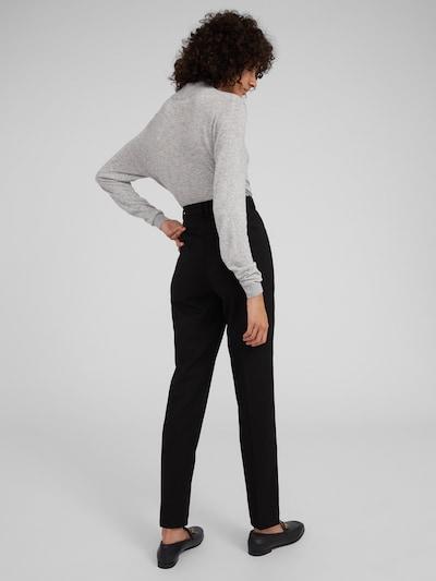 Pantaloni 'Magda' EDITED pe negru: Privire spate