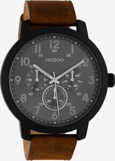 OOZOO Uhr 'C10507' in braun / dunkelgrau / schwarz, Produktansicht