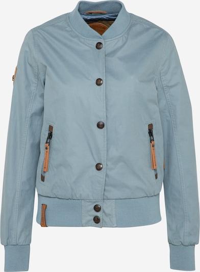naketano Tussenjas 'Frei & Gefährlich' in de kleur Smoky blue / Roestbruin, Productweergave