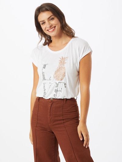 ZABAIONE Koszulka 'Leni' w kolorze srebrny / białym: Widok z przodu