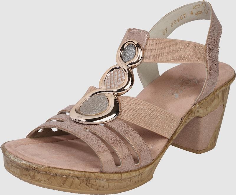 Rieker sandal Stones Avec Un Bas Bien Visible