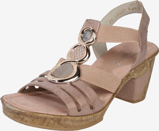 RIEKER Sandalen met riem in Rosé w2TgLsYf