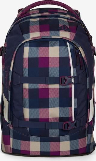 Satch Schulrucksack in blau / lila / dunkellila, Produktansicht