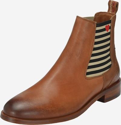 Crickit Chelsea Boot 'SUVI' mit Streifen und Herzchen in cognac, Produktansicht