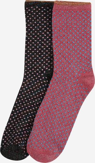 BeckSöndergaard Socke 'Dina' in brombeer / pink / schwarz, Produktansicht