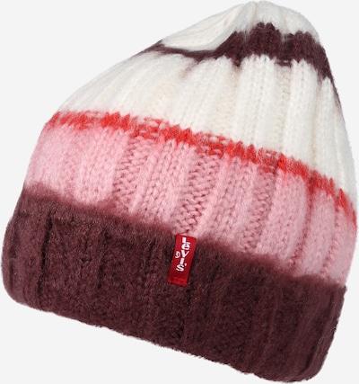 LEVI'S Mütze in pink / rot / weinrot / weiß, Produktansicht