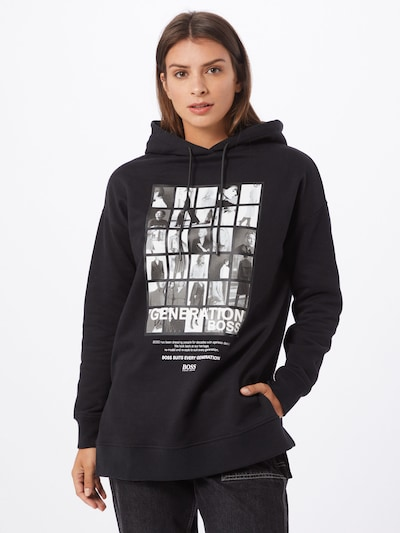 fekete / fehér BOSS Tréning póló 'C_Eyda', Modell nézet