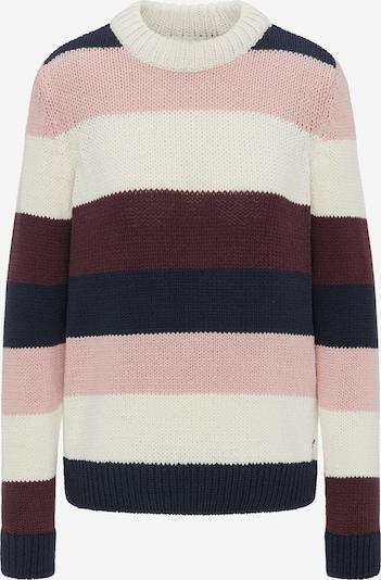 MUSTANG Pullover in nachtblau / altrosa / blutrot / weiß, Produktansicht