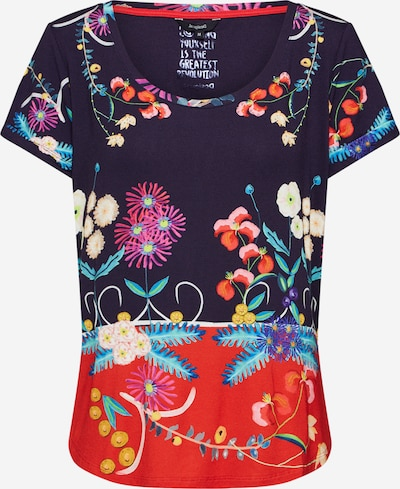 Desigual Shirt  'TS_TROPIC INDIA' in navy / dunkelblau / rot, Produktansicht