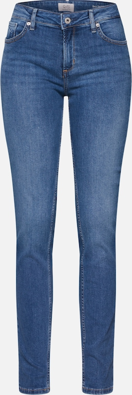 Q/S designed by Jeans ' CATIE SLIM LEG' in blue denim, Produktansicht