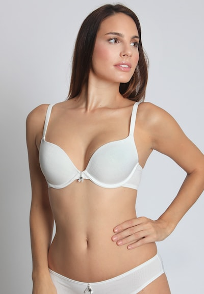 sassa Push Up-BH 'PURE ANIMAL' in weiß, Modelansicht
