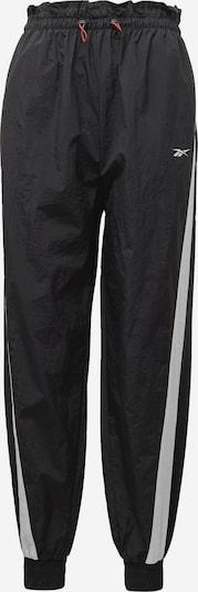 REEBOK Sportbroek in de kleur Zwart / Wit, Productweergave