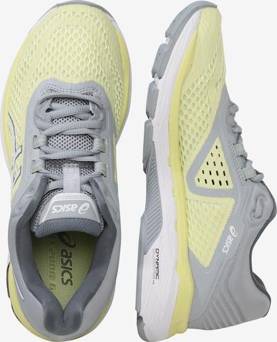 ASICS Laufschuhe 'GT-2000 6' in pastellgelb / grau / weiß: Seitenansicht