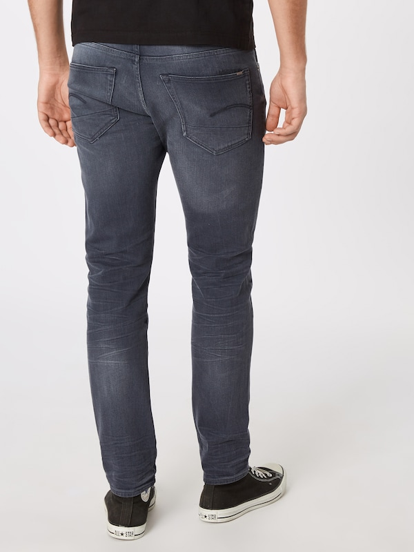 G-Star RAW Jeans '3301' in grey denim: Rückansicht