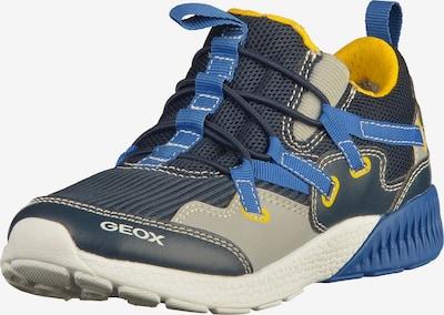 GEOX Sneaker in blau / royalblau / gelb / greige, Produktansicht