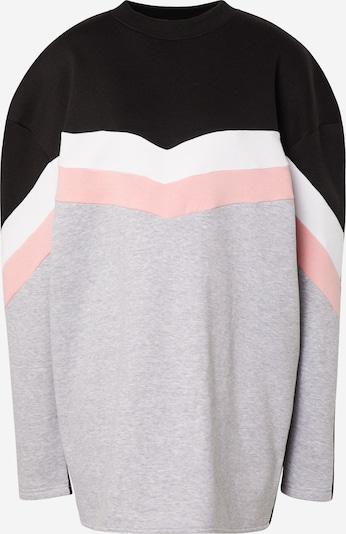 Missguided Robe 'COLOUR BLOCK SWEATER DRESS V' en gris / blanc, Vue avec produit