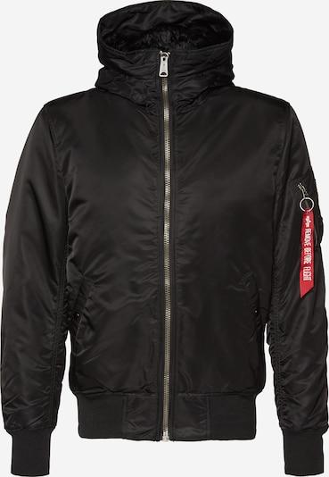 ALPHA INDUSTRIES Zimska jakna 'MA-1 HOODED' | črna barva, Prikaz izdelka