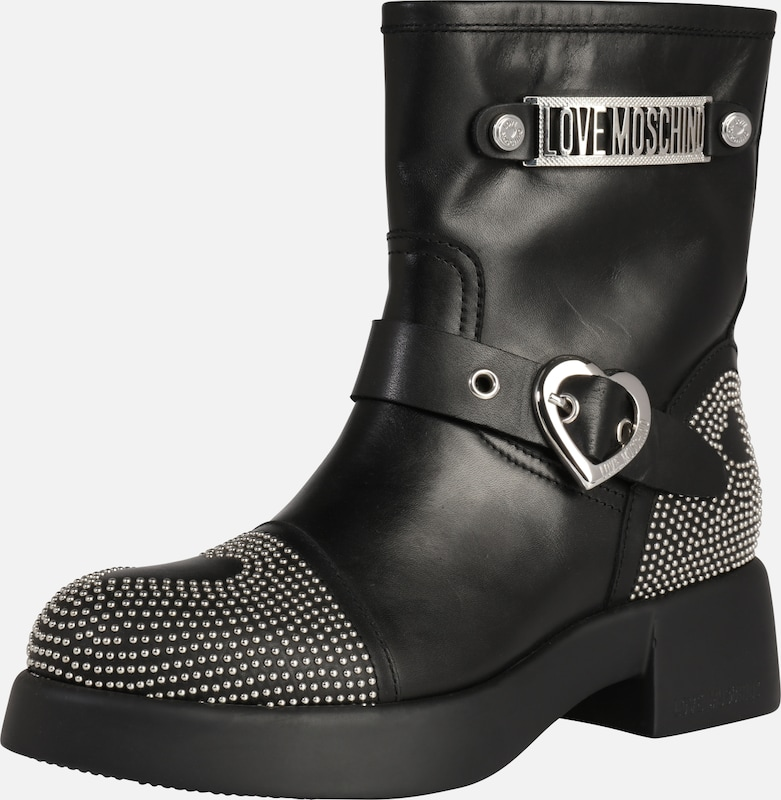 En 'new Boots Love Moschino 1' Noir York Studs 435ALRqj