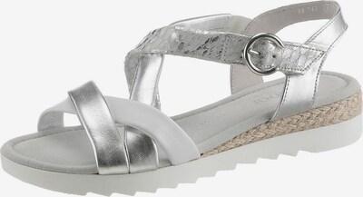 GABOR Sandalen in camel / silber / weiß, Produktansicht