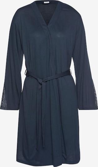 LASCANA Robe de chambre en bleu nuit, Vue avec produit