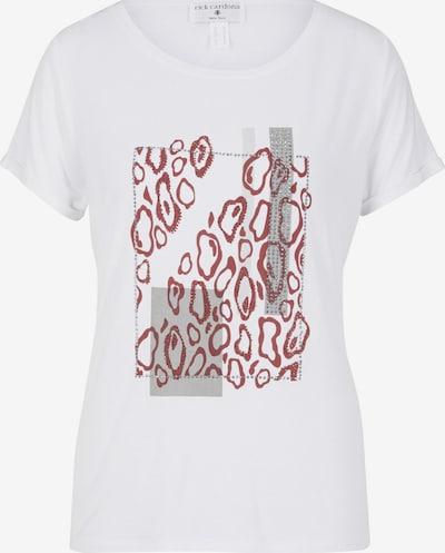 heine Shirt in grau / rot / weiß, Produktansicht