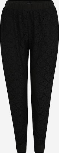Pantaloni largi Urban Classics Curvy pe negru, Vizualizare produs