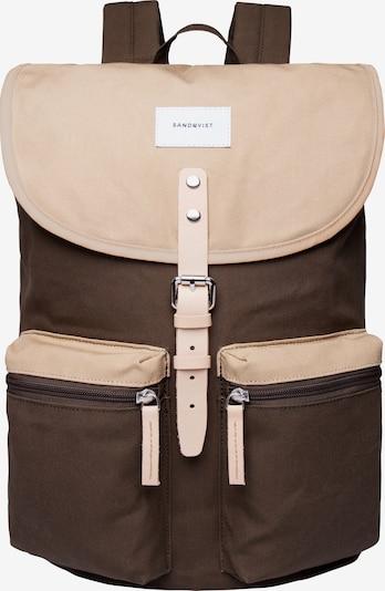 SANDQVIST Plecak 'Roald Ground' w kolorze beżowy / oliwkowym, Podgląd produktu