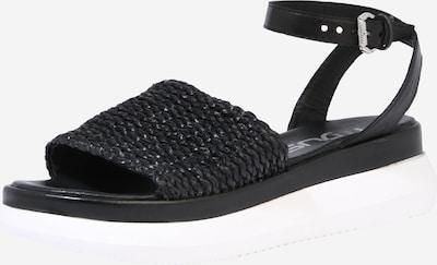 MJUS Sandale 'PASA' in schwarz / weiß, Produktansicht