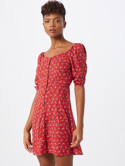 Boohoo Kleid 'Floral Square Neck Mini Dress' in rot, Modelansicht